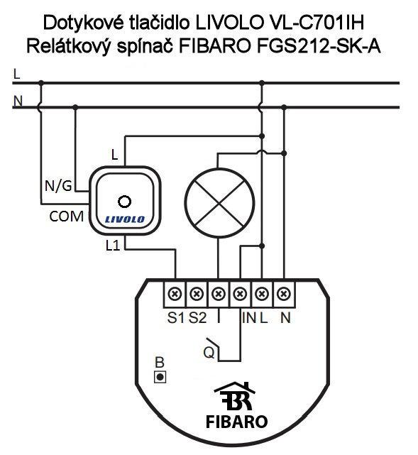 LIVOLO FIBARO FGS212-SK-A