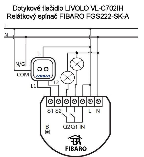 LIVOLO FIBARO FGS222-SK-A