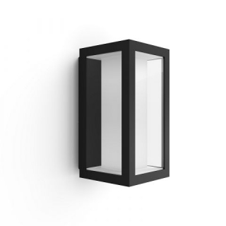 Impress Hue Wall Lantern Black 8W