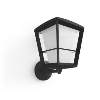 Econic Hue Up Wall Lantern Black 15W