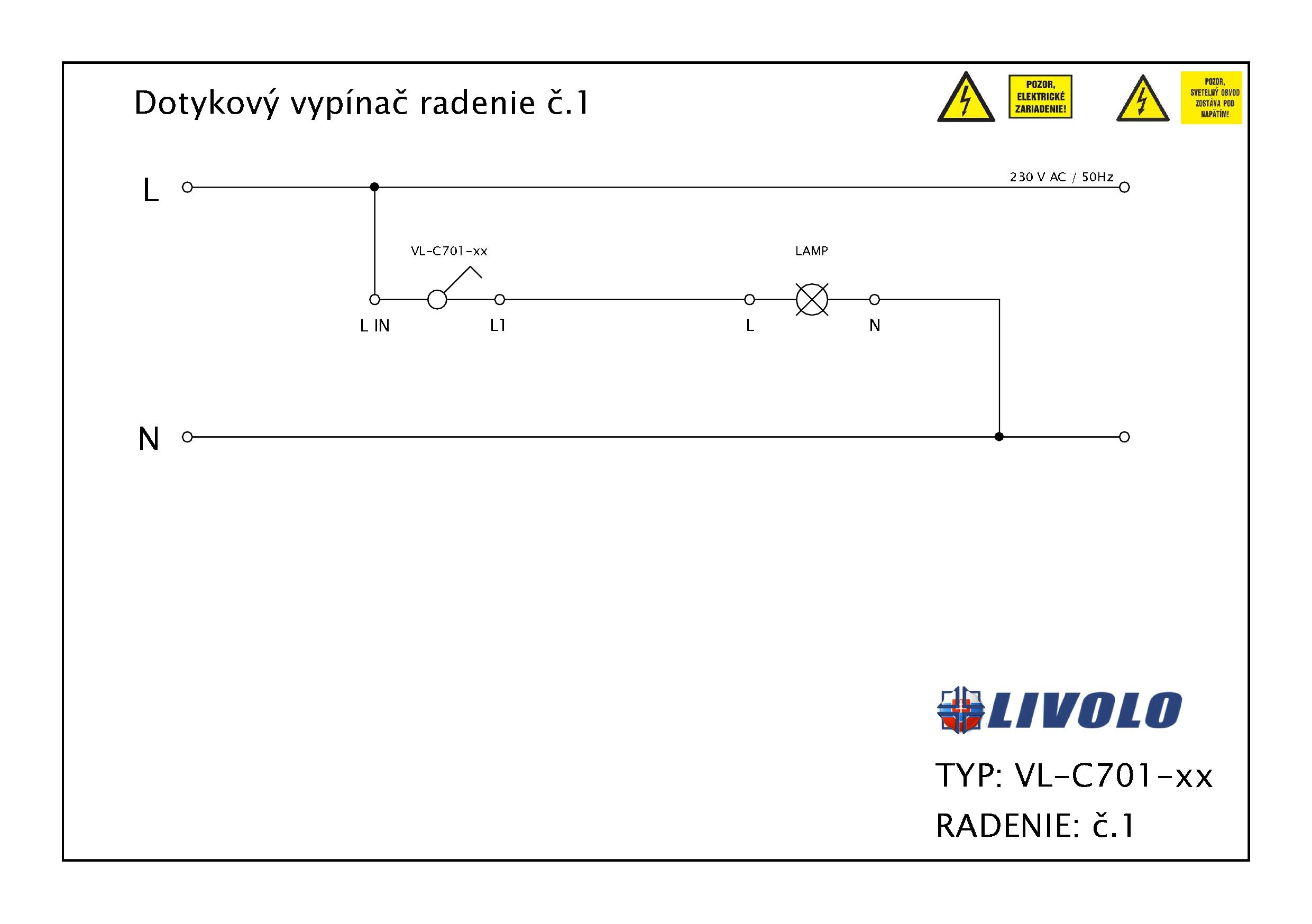 LIVOLO - schéma zapojenia