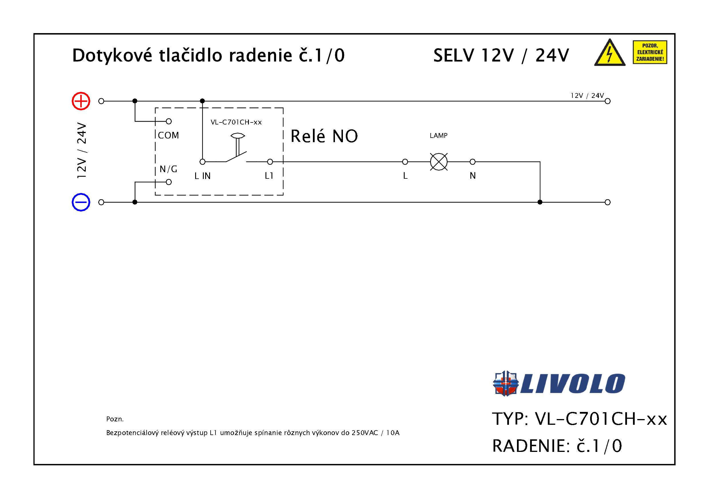 Schema zapojenia VL-C701CH
