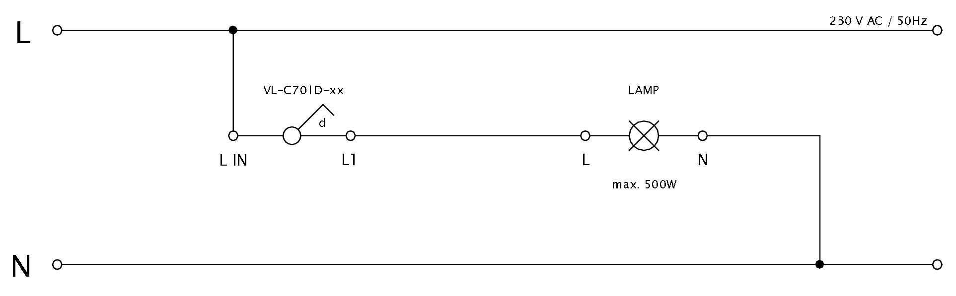 Schéma zapojenia LIVOLO VL-C701D