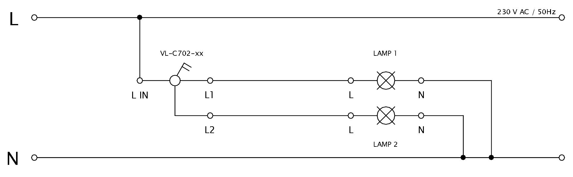 Schéma zapojenia LIVOLO VL-C702