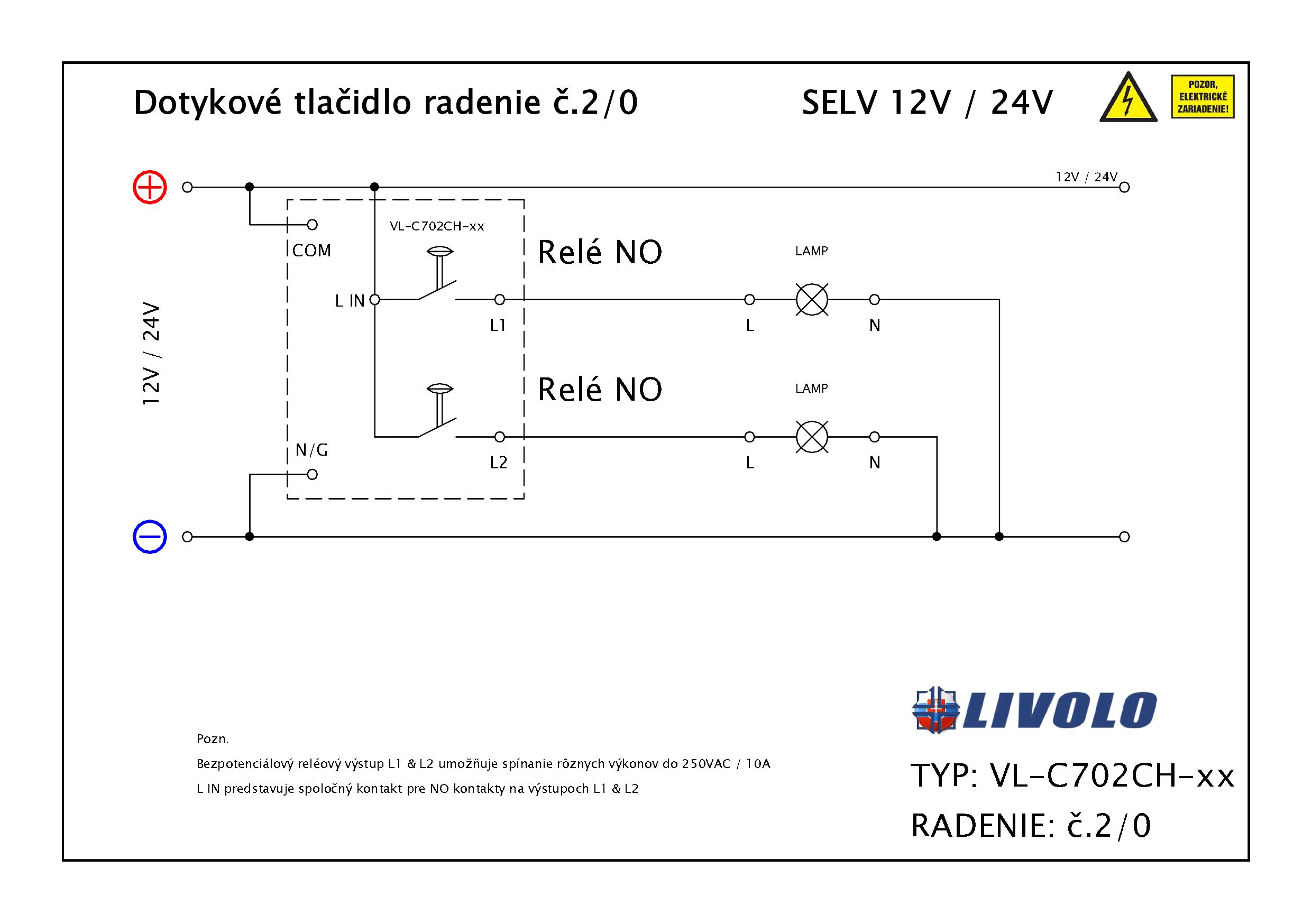 Schema zapojenia VL-C702CH