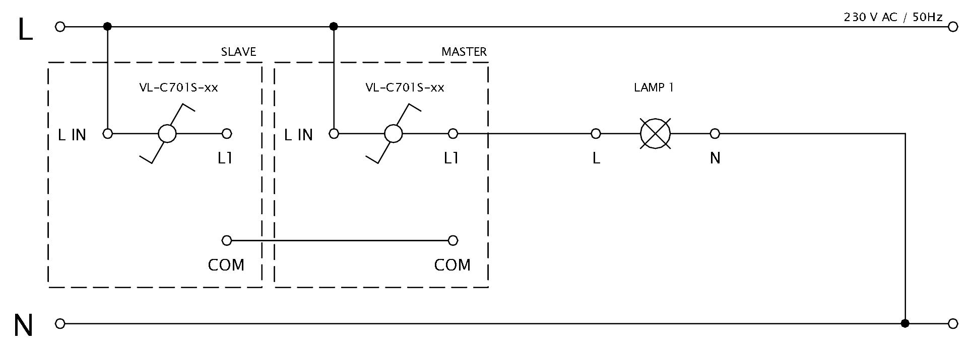 Schéma zapojenia LIVOLO VL-C701S