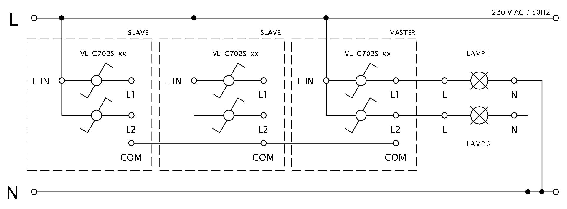 Schéma zapojenia LIVOLO VL-C702S