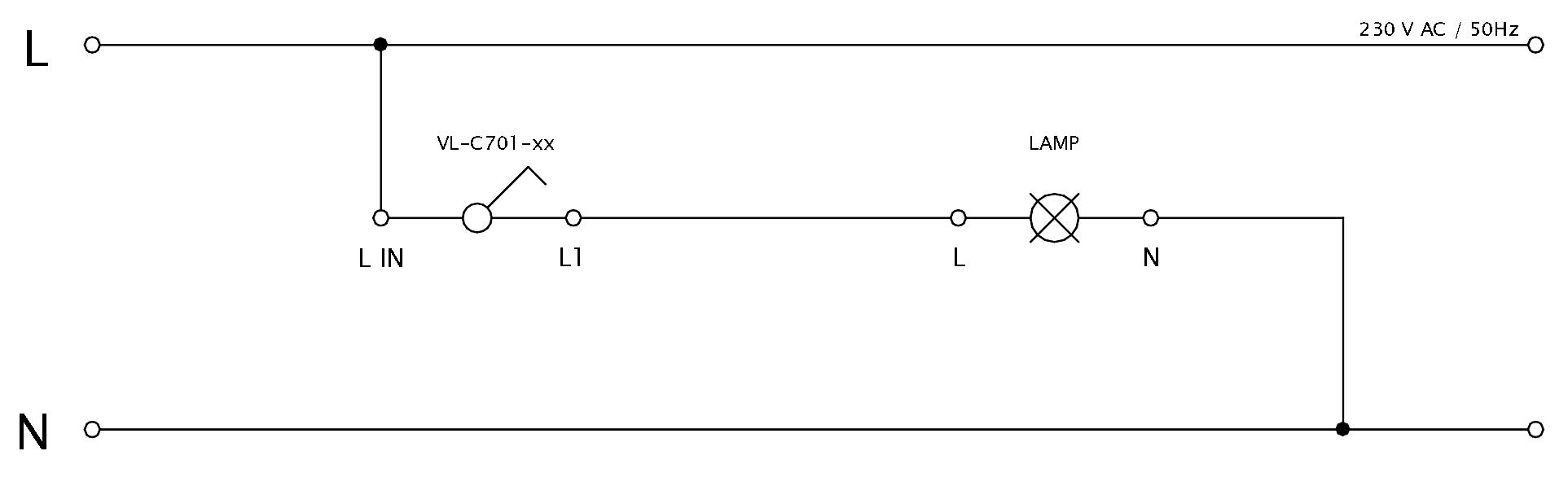 Schéma zapojenia LIVOLO VL-C701