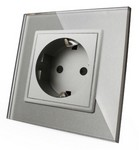 LIVOLO Touch Switch Power Socket SILVER GRAY
