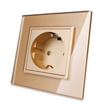 LIVOLO Touch Switch Power Socket GOLD