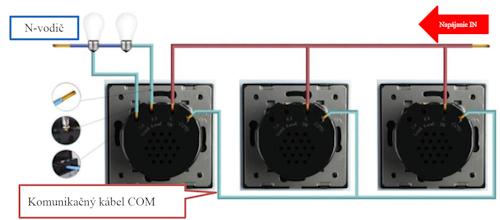 Zapojenie troch vypínačov LIVOLO 702S 5B+5B+5B